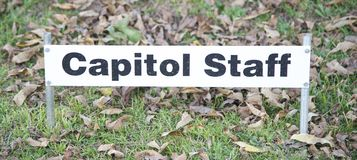 Capital Staff Sign Stock Images