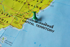 Capital territory map Stock Image