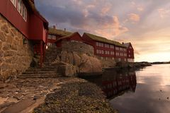 The capital of Torshavn in the Faore Islands Stock Photography