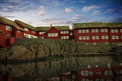 The capital of Torshavn in the Faore Islands Royalty Free Stock Photos