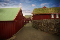 The capital of Torshavn in the Faore Islands Royalty Free Stock Photo