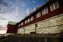 The capital of Torshavn in the Faore Islands Royalty Free Stock Image