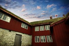 The capital of Torshavn in the Faore Islands Stock Images