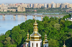 The capital of Ukraine, Kiev. Beautiful spring cityscape Royalty Free Stock Photos