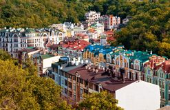 Capital of Ukraine - Kyiv in the autumn royalty free stock photography