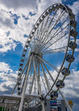 The Capital Wheel on the Potomac River. The Capital ferris Wheel at the national harbor  amusement ride gives great view of Washington DC Royalty Free Stock Image
