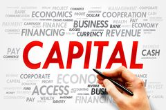 CAPITAL. Word cloud, business concept Stock Photo