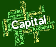 Capital Word Shows Rich Asset And Affluence Stock Image