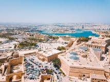 Capitale antica di La Valletta Malta fotografia stock