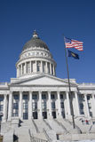 Capitale con la bandiera americana Immagine Stock Libera da Diritti