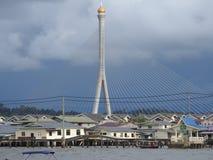 Capitale de bsb de village de l'eau du Brunei du Brunei image libre de droits