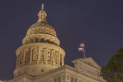 Capitale de l'État du Texas la nuit Images stock