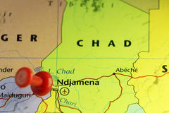 Capitale de Ndjamena du Tchad illustration stock