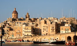 Capitale de valletta de Malte Photo stock