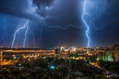 Capitale de vie nocturne de Bashkortostan Oufa ; Photo stock