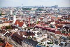 Capitale de Vienne en l'Autriche, le citysccape du centre de la ville et du centre vue de bourdon Photographie stock libre de droits