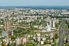 Capitale de ville de Vilnius de vue aérienne de la Lithuanie Photographie stock libre de droits