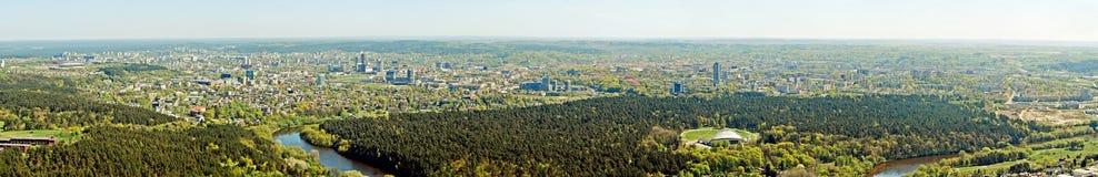 Capitale de ville de Vilnius de vue aérienne de la Lithuanie Photo libre de droits