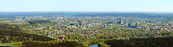 Capitale de ville de Vilnius de vue aérienne de la Lithuanie Image libre de droits
