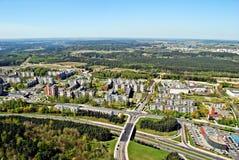Capitale de ville de Vilnius de vue aérienne de la Lithuanie Photos libres de droits