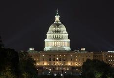Capitale degli Stati Uniti alla notte fotografia stock libera da diritti
