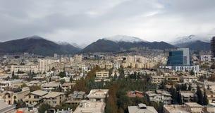 Capitale della città di Teheran dell'Iran in vista la vista aerea di Immagini Stock Libere da Diritti