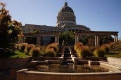 Capitale dello Stato del Missouri al crepuscolo Fotografie Stock Libere da Diritti