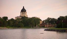 Capitale dello Stato del Sud Dakota che sviluppa deviazione standard di Hughes County Pierre fotografie stock libere da diritti