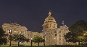 Capitale dello Stato del Texas alla notte fotografia stock libera da diritti