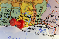Capitale di Accra del Ghana Immagine Stock