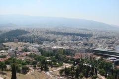 Capitale di Atene La Grecia 06 16 2014 Il paesaggio della città di Atene antica dall'altezza della collina dell'acropoli Fotografie Stock