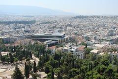 Capitale di Atene La Grecia 06 16 2014 Il paesaggio della città di Atene antica dall'altezza della collina dell'acropoli Fotografia Stock Libera da Diritti