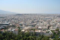 Capitale di Atene La Grecia 06 16 2014 Il paesaggio della città di Atene antica dall'altezza della collina dell'acropoli Immagini Stock