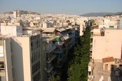 Capitale di Atene La Grecia 06 16 2014 Il paesaggio della città di Atene antica dall'altezza della collina dell'acropoli Fotografie Stock Libere da Diritti