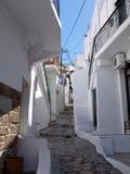 Capitale di Chora dell'isola di Skyros, egeo nordico, Grecia fotografie stock libere da diritti