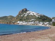Capitale di Chora dell'isola di Skyros, egeo nordico, Grecia fotografie stock
