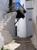 Capitale di Chora dell'isola di Skyros, egeo nordico, Grecia immagine stock libera da diritti