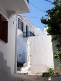 Capitale di Chora dell'isola di Skyros, egeo nordico, Grecia fotografia stock libera da diritti