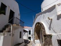 Capitale di Chora dell'isola di Skyros, egeo nordico, Grecia immagini stock