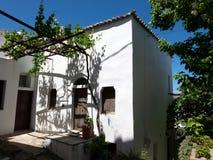 Capitale di Chora dell'isola di Skyros, egeo nordico, Grecia fotografia stock