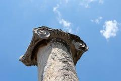 Capitale di colonna ionico, immagine stock libera da diritti