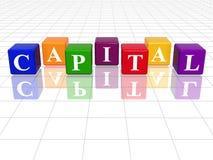 Capitale di colore Fotografie Stock
