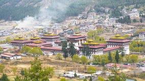 Capitale di Thimphu del paese della valle del Bhutan Fotografie Stock Libere da Diritti