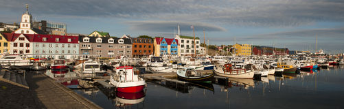 Capitale di Torshavn di isole faroe Immagini Stock Libere da Diritti