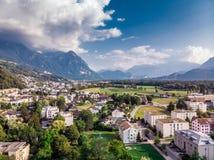 Capitale di Vaduz Liechtenstein fotografie stock libere da diritti