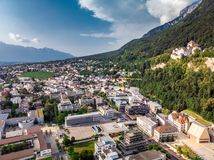 Capitale di Vaduz Liechtenstein fotografia stock