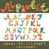 Capitale e lettera minuscola di alfabeto di divertimento Fotografia Stock Libera da Diritti