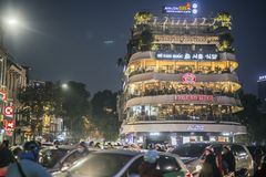 The capitale of hanoi in vietnam royalty free stock photography
