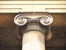 capitale ionico (aka chapiter fotografie stock libere da diritti