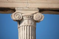 Capitale ionico al Erechtheum, Atene fotografia stock libera da diritti